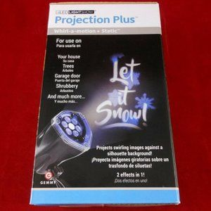 NEW Gemmy LED Lightshow Projection+ Let It SnoW